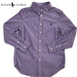 Polo Ralph Lauren's purple checkered button-down